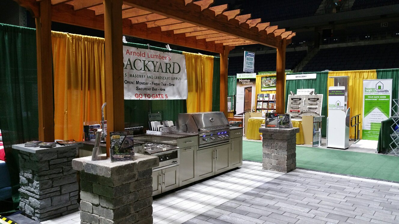 Arnold Lumber 39 S Backyard And Kitchen Design Center Bring A Stunning Outdoor Kitchen And Patio