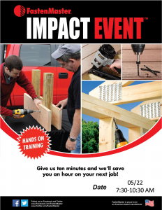 FastenMaster Impact Event @ Arnold Lumber Company  | Westerly | Rhode Island | United States
