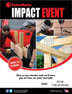 FastenMaster Impact Event @ Arnold Lumber Company  | Bristol | Rhode Island | United States