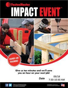 FastenMaster Impact Event @ Arnold Lumber Company  | South Kingstown | Rhode Island | United States