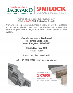 Unilock - U-CARA Wall System Lunch @ Arnold Lumber's Backyard | South Kingstown | Rhode Island | United States