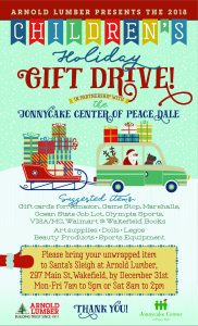 Children's Holiday Gift Drive in partnership with Jonnycake Center of Peacedale