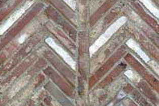 Herringbone Brick Strips For borders, fireplaces or interior flooring