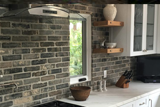 Grey Brick Veneer From an entire wall to a kitchen backsplash, our grey brick veneer instantly adds character and style to any space.