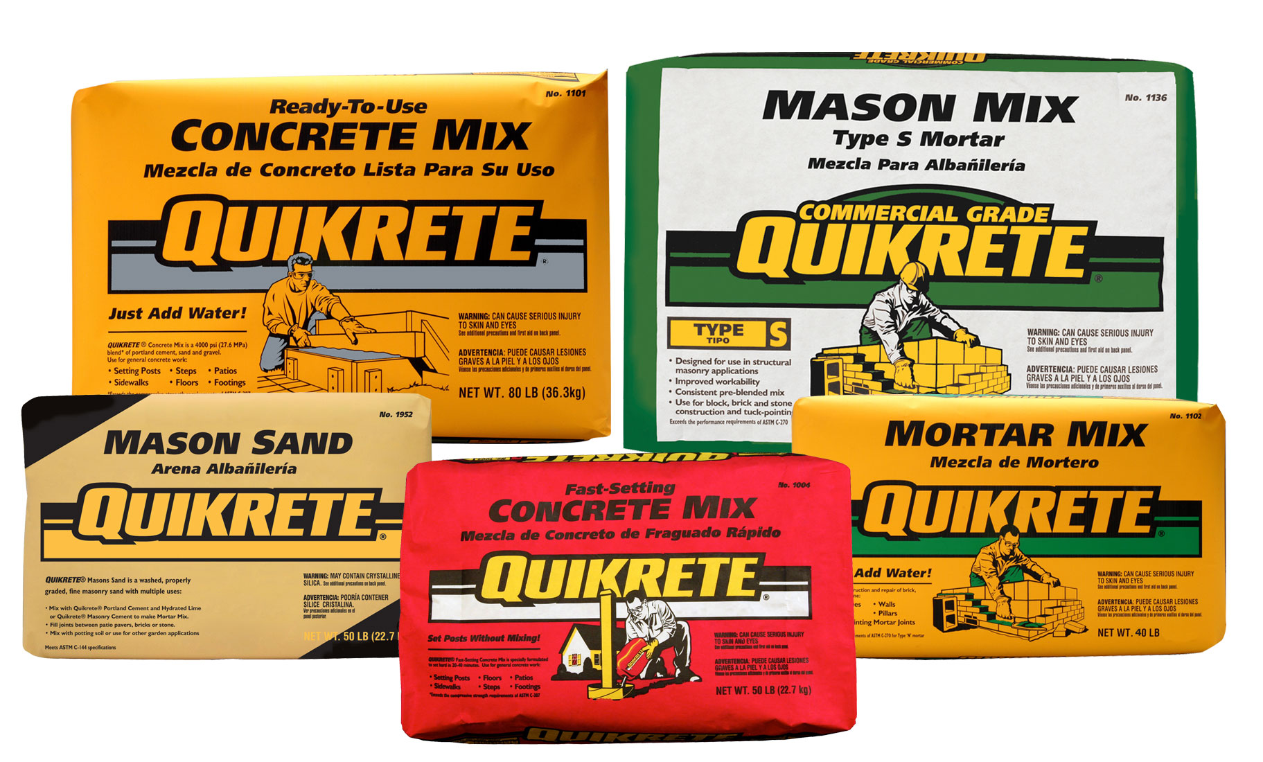 Quickrete products