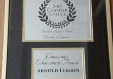 2015ChamberChoiceAwardArnoldLumberCommunityEnhancement1